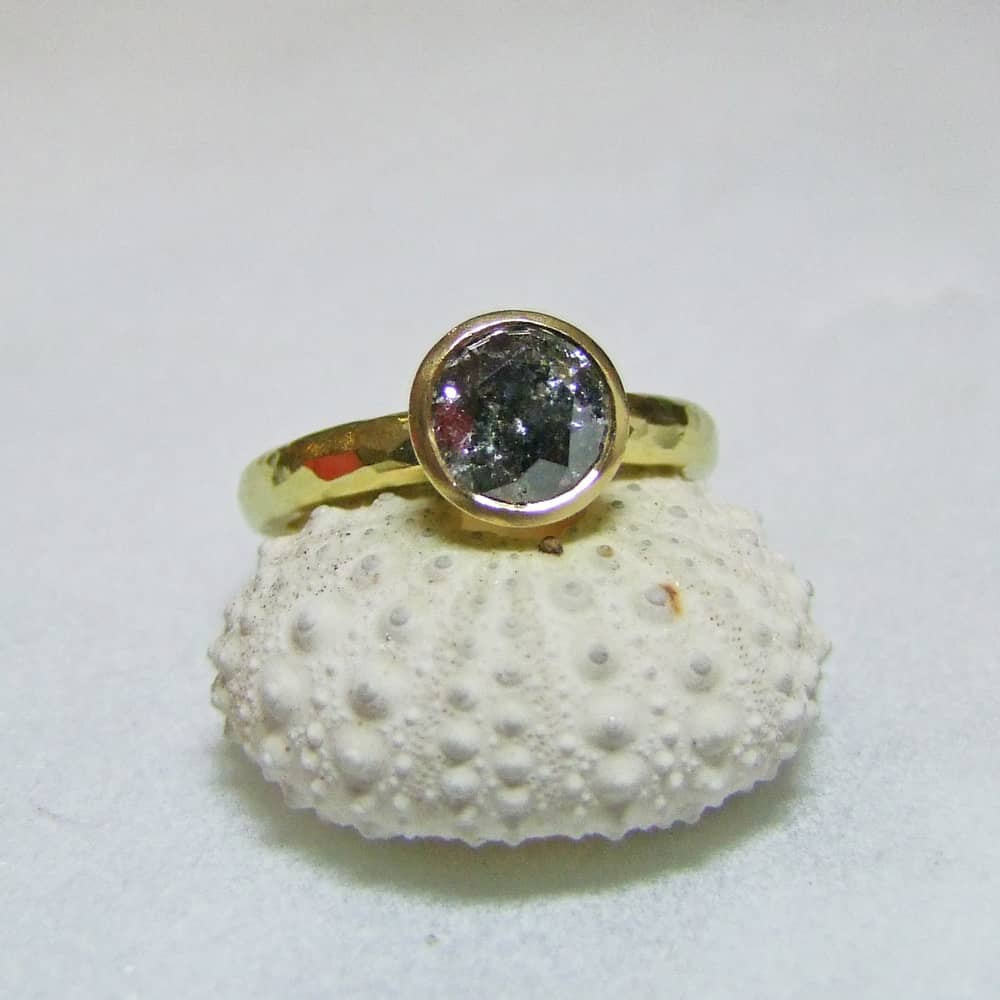 Black Grey Salt And Pepper Diamond Ring