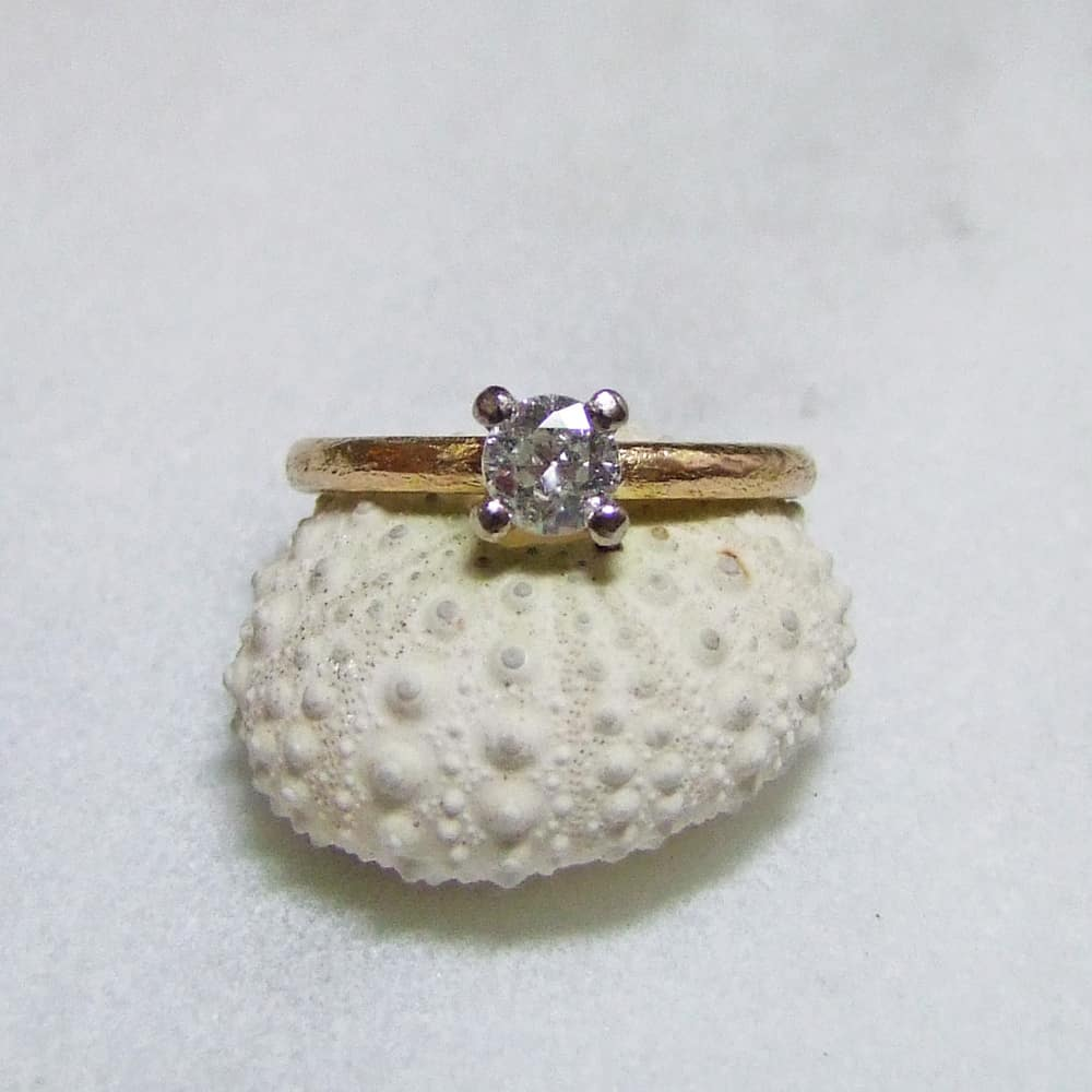 Bespoke Rose Gold Recycled Diamond Ring