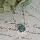Silver Handmade Opal Pendant
