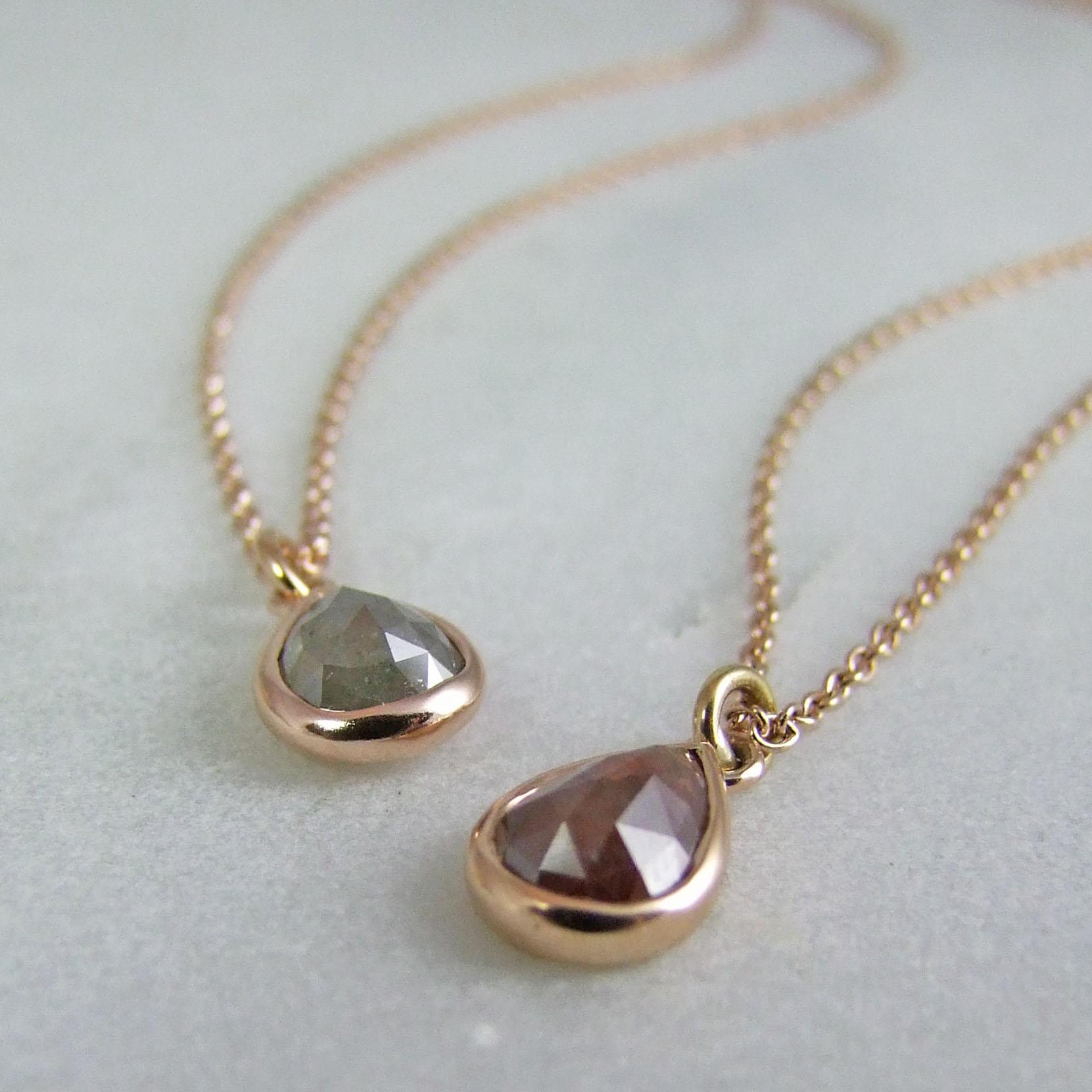 Rose Cut Diamond Pendants