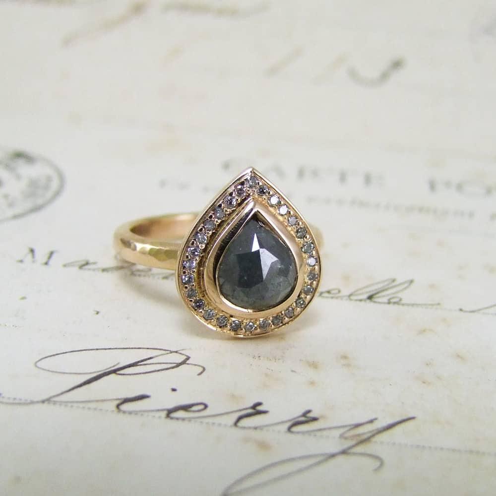Rose Gold Diamond Halo Ring