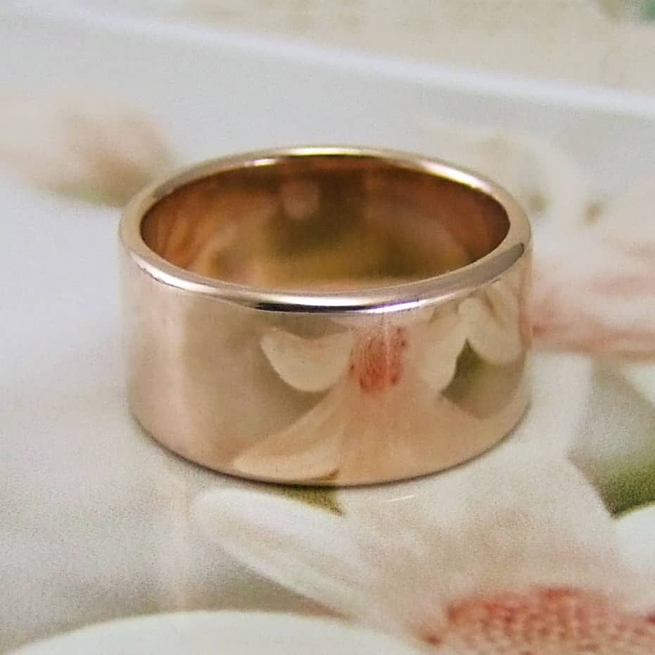 Rose Gold Wide Band
