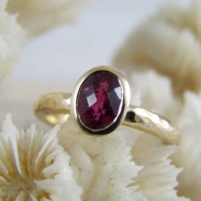 Handmade Gold And Tourmaline Ring