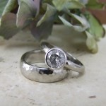 Snowflake Diamond Engagement Ring