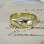 Three Stone Old Cut Diamond Ring