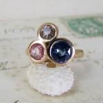 Unusual Sapphire Diamond Engagement Ring