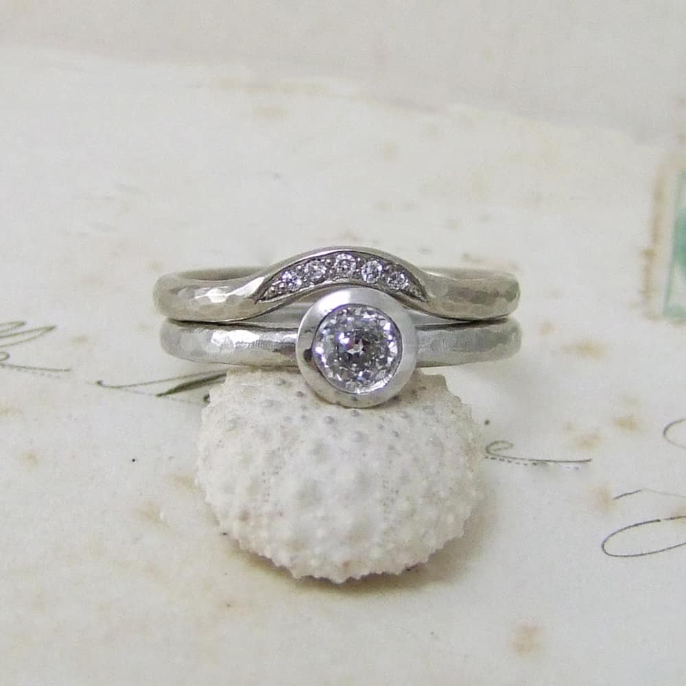 Moon Fitted Wedding Band Alexis Dove Jewellery