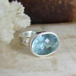Aquamarine & Silver Cocktail Ring