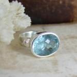 Aquamarine & Silver Cocktail Ring