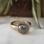 Grey Rose cut Diamond & Rose Gold Unusual Engagement Ring
