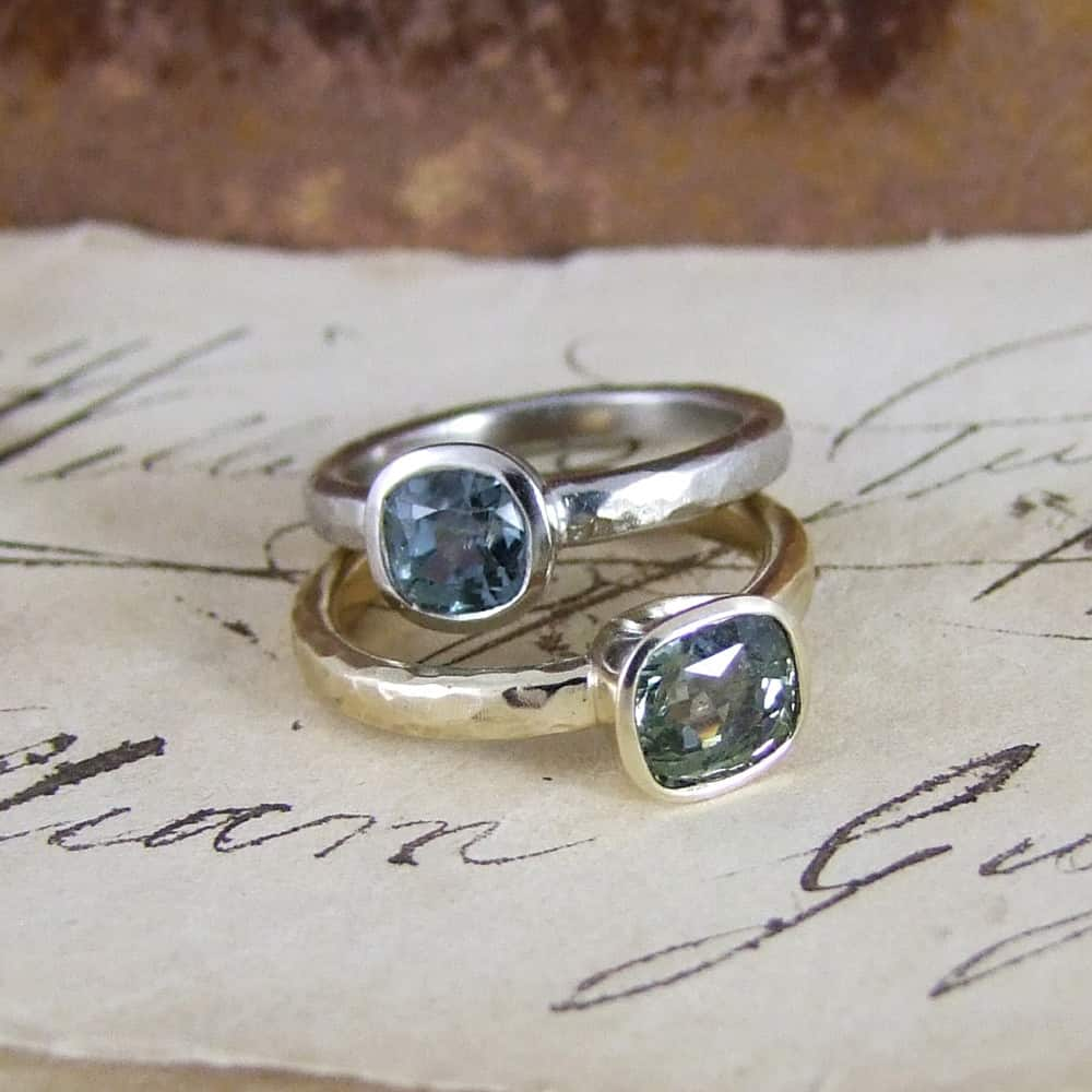 Fancy Sapphire Unusual Engagement Rings