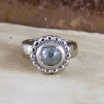 Grey Rose Cut Diamond & Palladium Unusual Engagement Ring