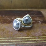 Grey Rose Cut Diamond Unusual Engagement Rings