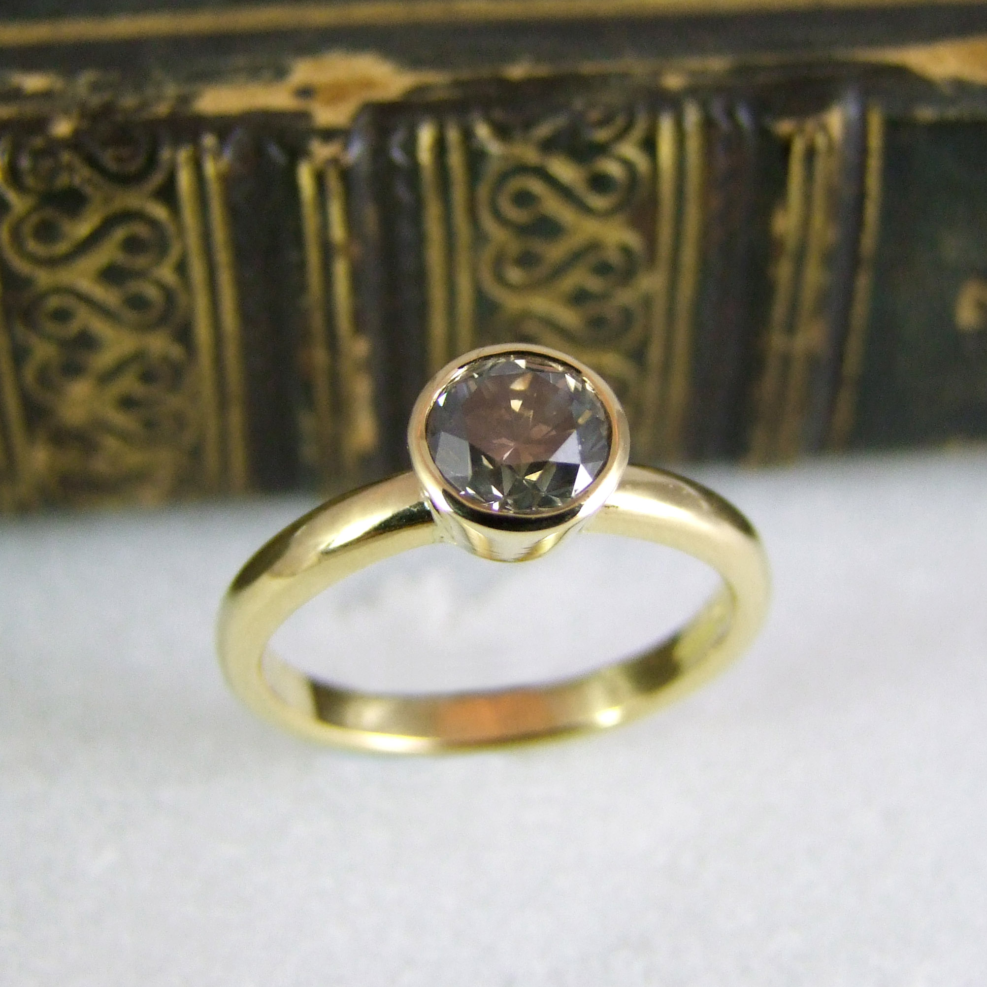 Handmade Salt And Pepper Diamond And Fairtrade Gold Ring