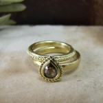 Cinnamon Rose cut Diamond Rings