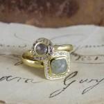 Rose Cut Diamond Halo Unusual Engagement Rings