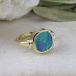 Opal & Gold Cocktail Ring