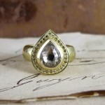 Pear Shape Cinnamon Rose-cut Diamond Lydia Ring