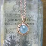Aquamarine Pendant India Pendant In Rose Gold