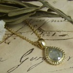 Rosecut Diamond & Yellow Gold Pendant
