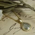 Rosecut Diamond & Yellow Gold Pendant