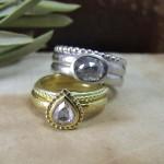 Rosecut Diamond Beaded Rings