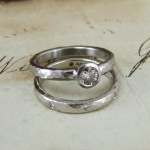 Cinnamon Diamond Engagement & Wedding Rings
