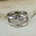 Cinnamon Diamond Engagement & Wedding Rings