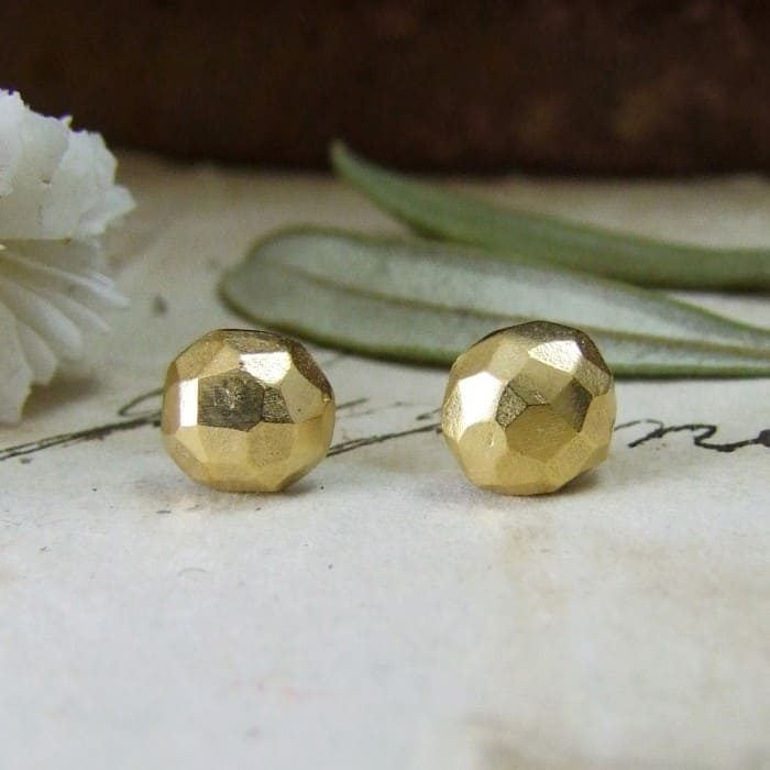 Olive Stud Earrings