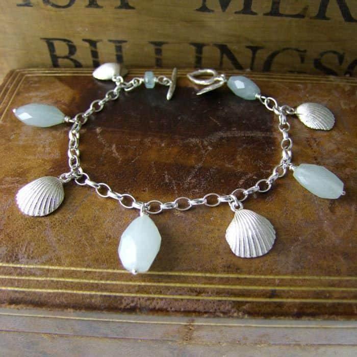 Clamshell Charm Bracelet