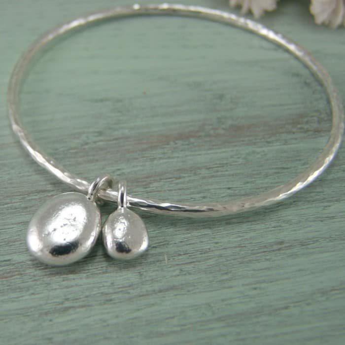 Double Pebble Bangle