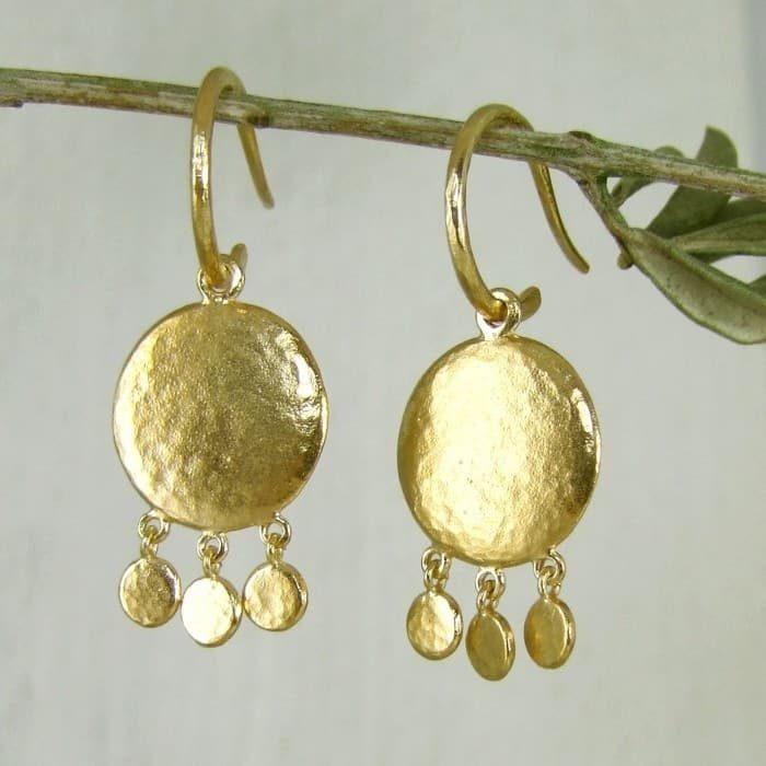 Helios Mini Disc Earrings