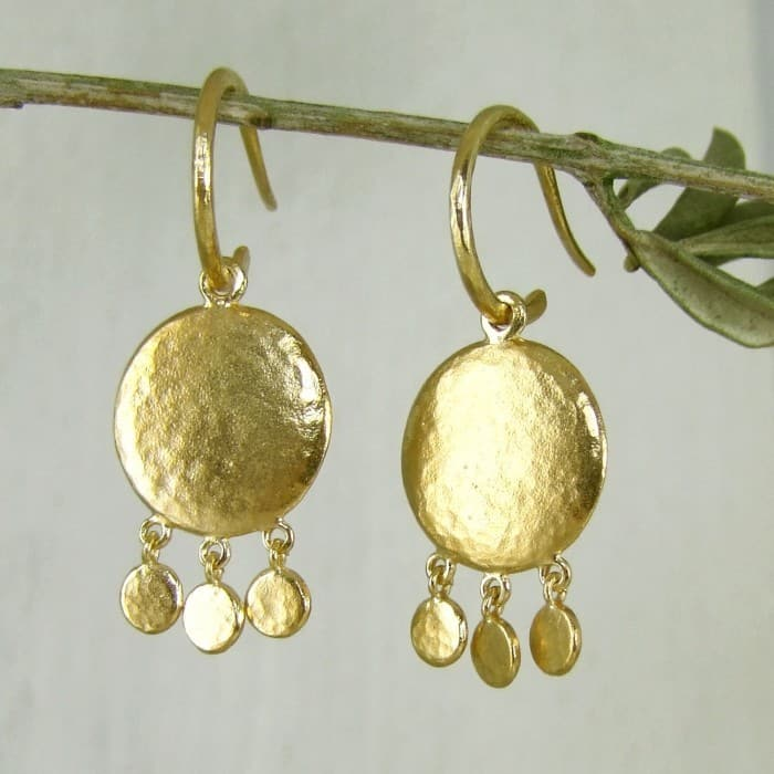 Helios Mini Disc Earrings