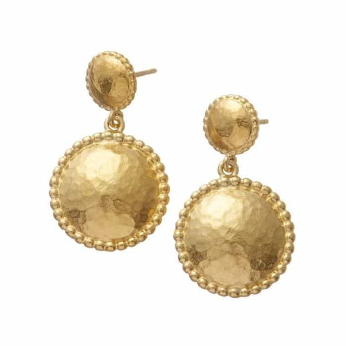Helios Stud Drop Earrings