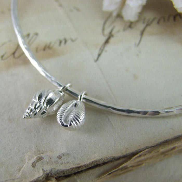 Double Mini Shell Bangle