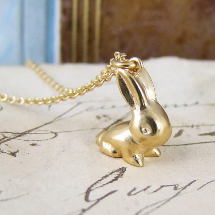 Vermeil Vintage Bunny