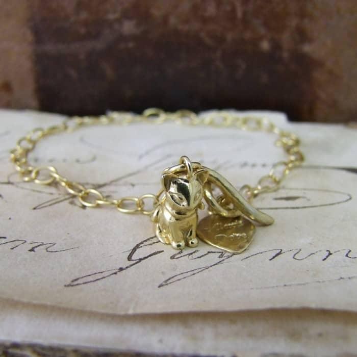 Vintage Kitten Bracelet