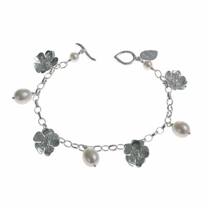 Wild Rose Charm Bracelet