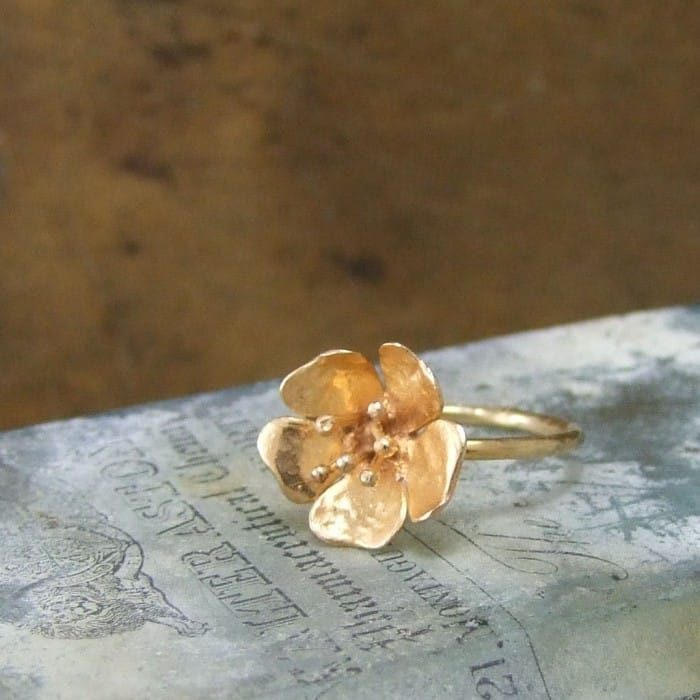 Wild Rose Tiny Ring