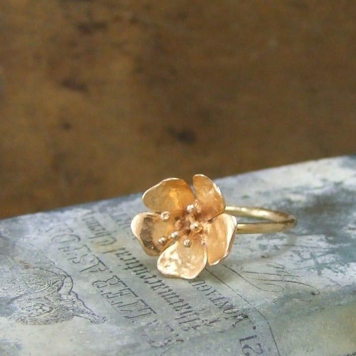 Wild Rose Tiny Ring