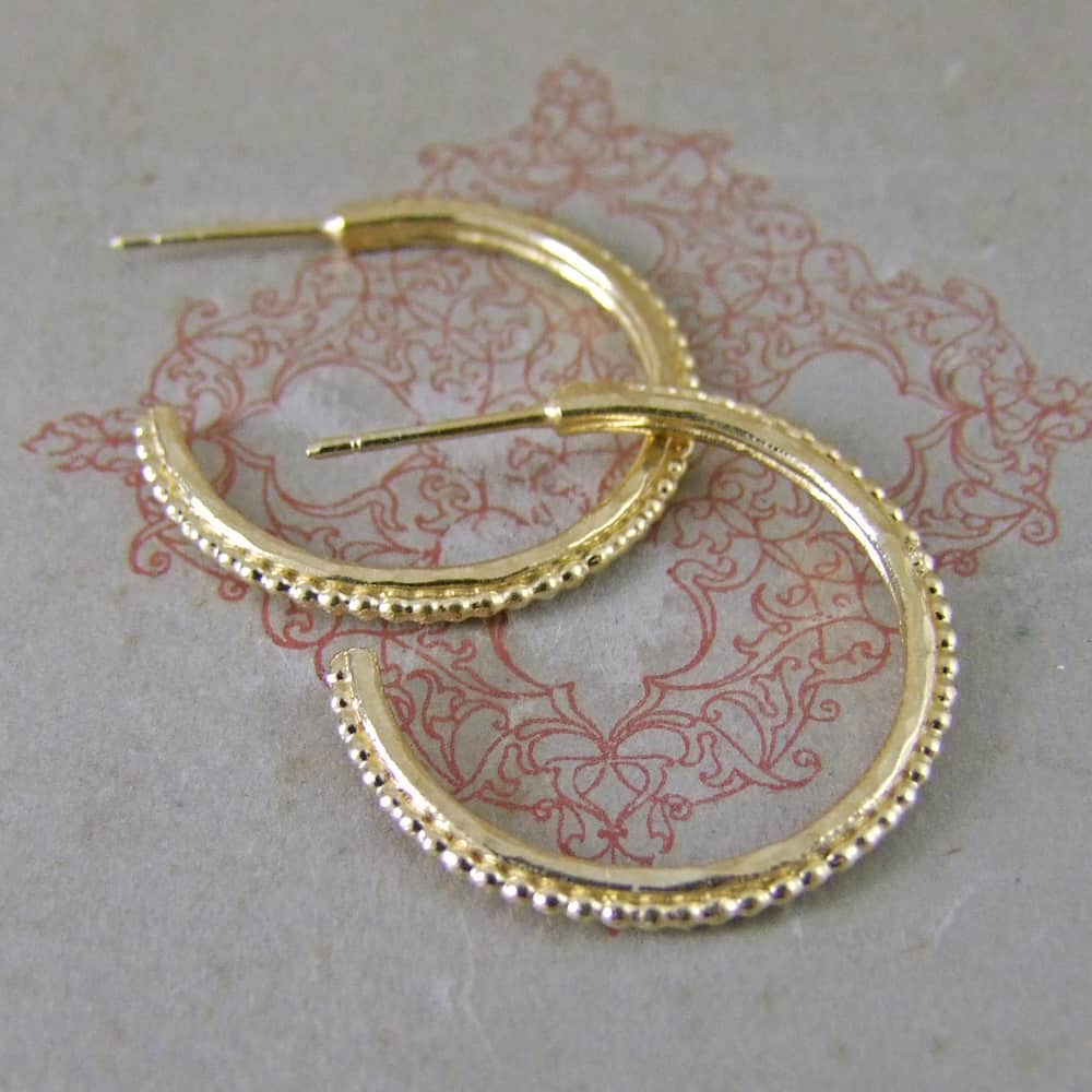 Yellow Vermeil Small Urchin Hoops