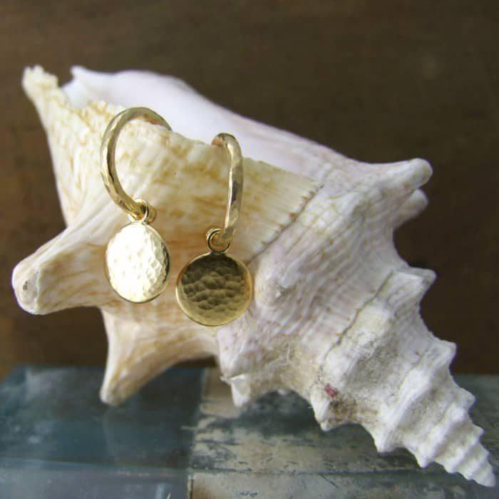 Hoop Stud Disc Earrings