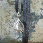 Grey Rose Cut Diamond Pendant