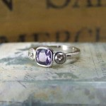 Purple Sapphire Three Stone