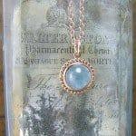 Rose Gold Aquamarine Pendant