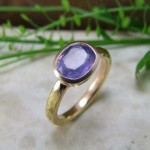 Lilac Sapphire Rose Gold Ring