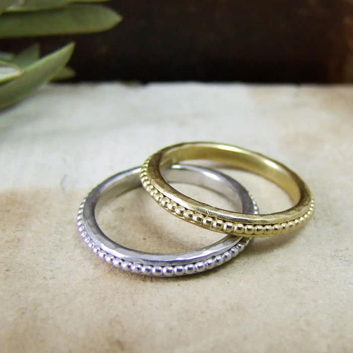 Beaded wedding bands