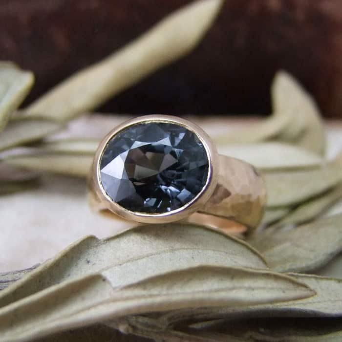 Grey Spinel Rose Gold
