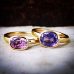 Amara Sapphire Rose Gold Rings