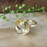 Gold & Diamond Flower Ring